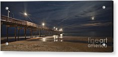 Avon Pier At Night Acrylic Print