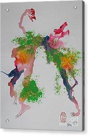 Acrylic Print featuring the painting Avversari Preistorici by Roberto Prusso