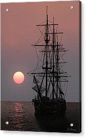 Awaiting The Sunset Acrylic Print by Joe Bonita