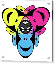 Awakened Ape Color Wheel Acrylic Print by Peter Piatt