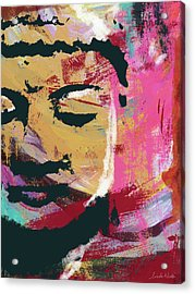 Awakened Buddha 3- Art By Linda Woods Acrylic Print