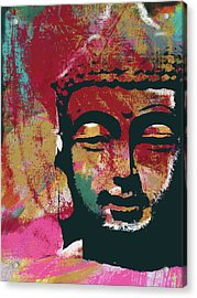Awakened Buddha 4- Art By Linda Woods Acrylic Print