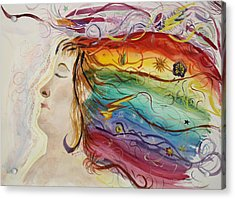 Acrylic Print featuring the painting Awakening Consciousness by Donna Walsh