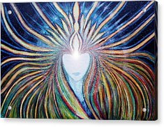 Awakening Of Self Acrylic Print by NARI - Mother Earth Spirit