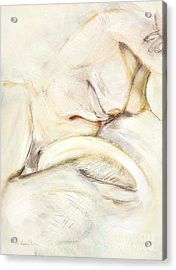 Award Winning Abstract Nude Acrylic Print by Kerryn Madsen-Pietsch