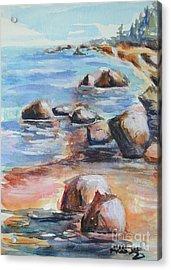 Awenda Shore Acrylic Print by Heather Kertzer