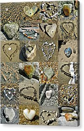 Awesome Hearts Found In Nature - Valentine S Day Acrylic Print