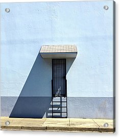 Awning Shadow Acrylic Print by Julie Gebhardt