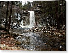 Awosting Falls In January #2 Acrylic Print by Jeff Severson
