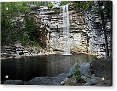 Awosting Falls In July II Acrylic Print by Jeff Severson