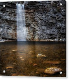Awosting Falls Square Acrylic Print by Bill Wakeley