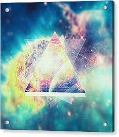 Awsome Collosal Deep Space Triangle Art Sign Acrylic Print