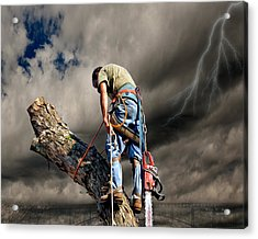 Ax Man Acrylic Print by Mark Allen