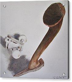 Axe And Doorknob Acrylic Print