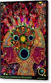 Ayahuasca Dimensional Encounter Acrylic Print by Myztico Campo