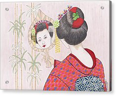 Ayano -- Portrait Of Japanese Geisha Girl Acrylic Print