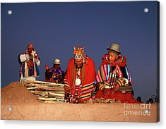 Aymara New Year Ceremonies Bolivia Acrylic Print by James Brunker