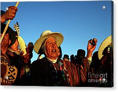 Aymara New Year Harvest Thanksgiving Bolivia Acrylic Print by James Brunker