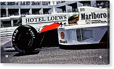 Ayrton Senna - Montecarlo Acrylic Print