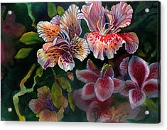 Acrylic Print featuring the painting Azalea by Gertrude Palmer