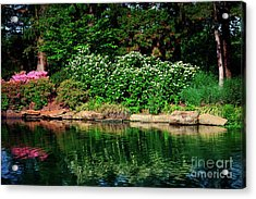 Azalea Reflection At Honor Heights Park Acrylic Print