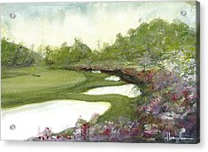 Azaleas Acrylic Print by Dave Baysden