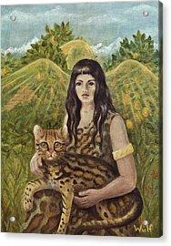 Aztec Angel Acrylic Print