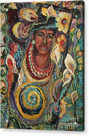 Aztec Garden Acrylic Print