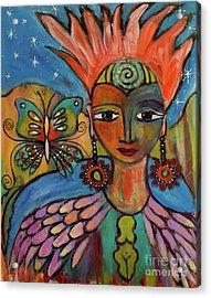 Aztec Princess Acrylic Print