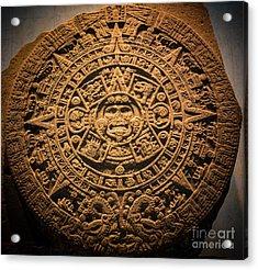 Aztec Stone Of The Sun  Acrylic Print