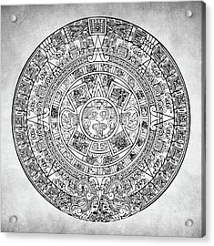 Aztec Sun Acrylic Print by Taylan Apukovska