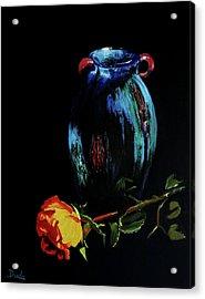 Azure Amphora Vase  Acrylic Print