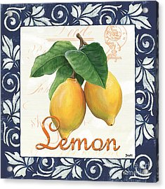Azure Lemon 1 Acrylic Print by Debbie DeWitt