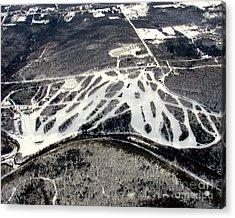 Acrylic Print featuring the photograph B-009 Blackjack Ski Mountain Bessemer Michigan by Bill Lang