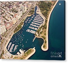 Acrylic Print featuring the photograph B-020 Belmont Harbor Chicago Illinois by Bill Lang