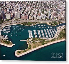 Acrylic Print featuring the photograph B-023 Belmont Harbor 2 Chicago Illinois by Bill Lang