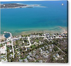 Acrylic Print featuring the photograph B-024 Baileys Harbor Town Wisconsin by Bill Lang