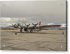 B-17 Flying Fortress Acrylic Print by Allen Sheffield