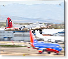 Acrylic Print featuring the photograph B-17 Bomber by Dart and Suze Humeston
