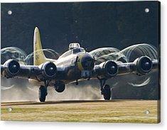 B-17 Chuckie Taking Off Acrylic Print