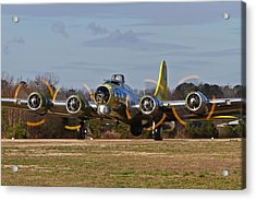 B-17 Chuckie Taxis Out Acrylic Print