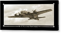B-17 Flying Fortress Show Print Acrylic Print