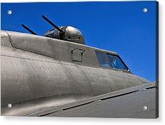 B-17 Top Guns Acrylic Print by Murray Bloom