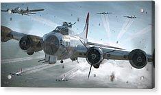 B-17g Hikin' For Home - Painterly Acrylic Print