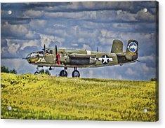 B-25 Landing Akron/canton Ohio Acrylic Print