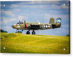 B-25 Landing Original Acrylic Print