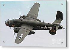 B-25 Mitchell Bomber Aircraft Acrylic Print