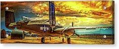 B-25 Mitchell Bomber Acrylic Print by Steve Benefiel