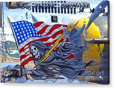 B-25 Pacific Prowler Nose Art Acrylic Print by Larry Keahey