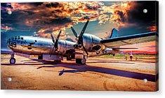 B-29 Acrylic Print by Steve Benefiel
